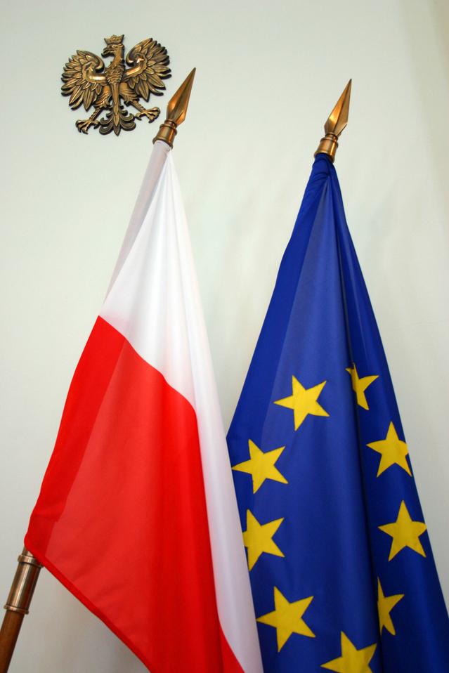 Flaggen Polen + Europa